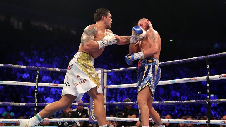 Oleksandr Usyk knocked Tony Bellew out in the eighth round in Manchester