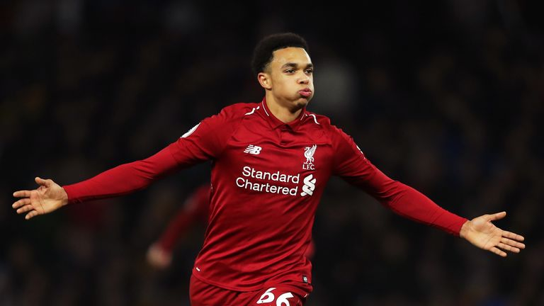 Trent Alexander-Arnold came on as a substitute