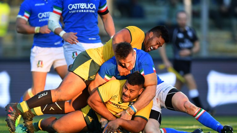 Tighthead prop Taniela Tupou was also among the try scorers