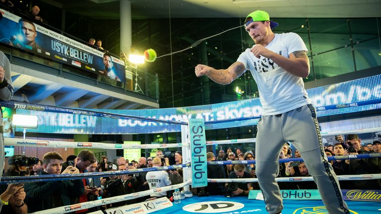 Usyk in action