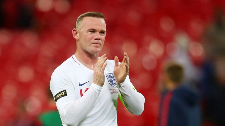 England's Wayne Rooney acknowledges the fans after the win over the USA