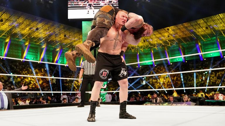 Brock Lesnar disposed of Braun Strowman at Crown Jewel and could now carry the WWE Universal title into his expected UFC return