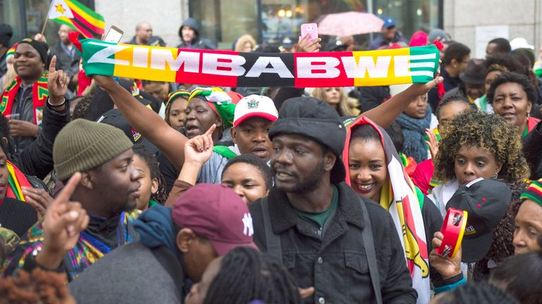 The ousting of President Mugabe a year ago was greeted with celebrations by many Zimbabweans living in London and other parts of the world