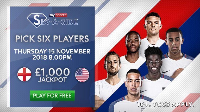 Six a Side England v USA