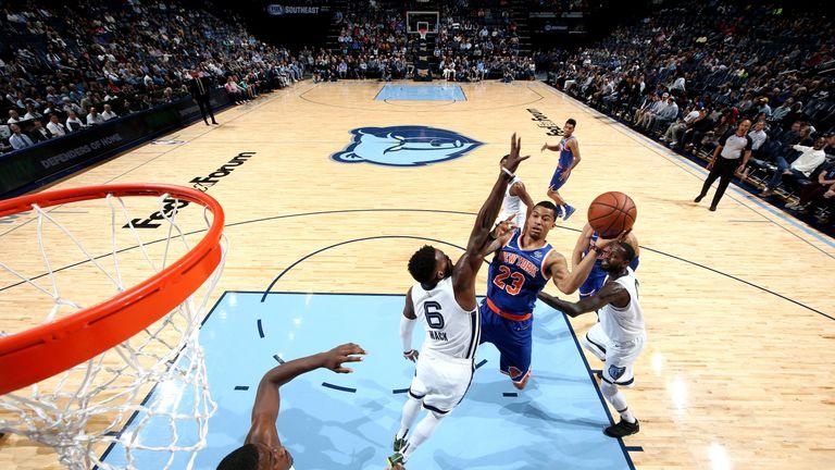 Trey Burke splits the Memphis defense