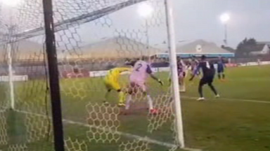 fifa live scores -                               WATCH: Incredible goalmouth scramble
