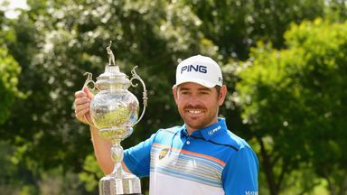Louis Oosthuizen cruised to a six-shot win on home soil