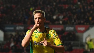 Norwich City's Marco Stiepermann celebrates scoring