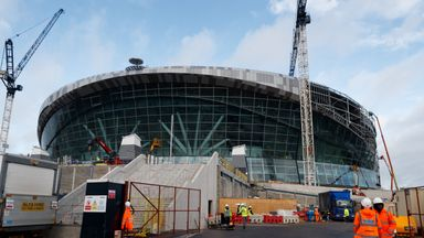 An exterior view of Tottenham Hotspur's new White Hart Lane stadium