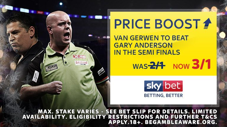 PDC World Championships Price Boost