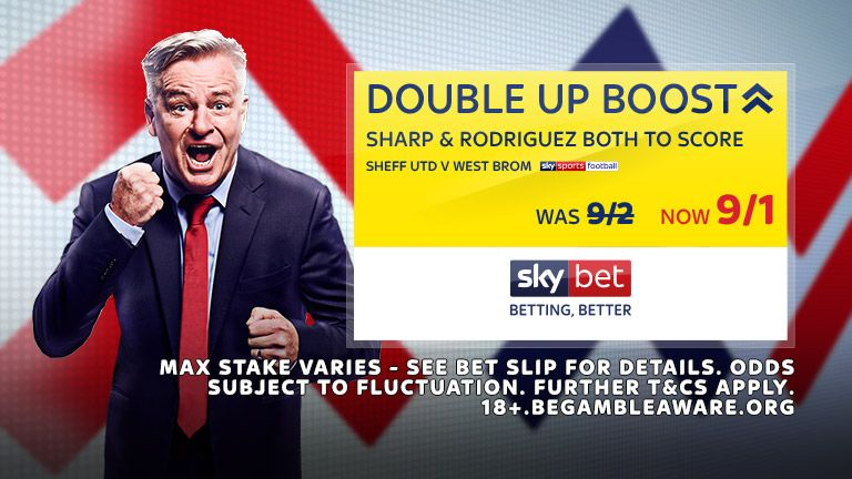 Sheff Utd v West Brom Double Up Boost