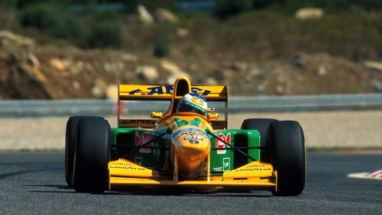 On the day Alain Prost won his fourth and final world title, the man who would eventually succeed him as world champion in 1994 clinched his second F1 win at Estoril. It was Schumacher's only win of 1993 but he and Benetton were an emerging force.