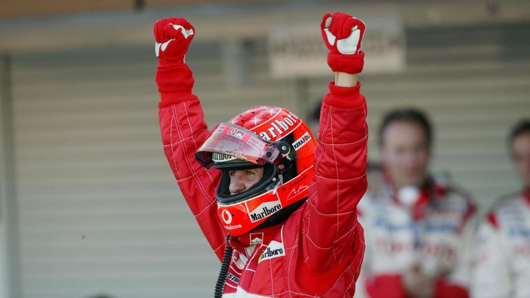 Yet more history for Michael. Schumacher completed a 100% podium record for the season by winning in Suzuka – finishing in the top three in all 17 races. No driver had managed that before, nor have they since.