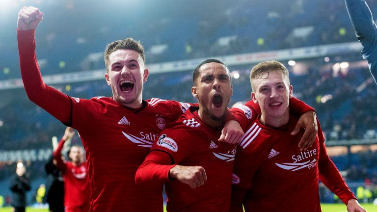 Aberdeen were the first team to win at Ibrox this season as they recorded a 1-0 success