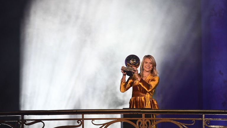 Ada Hegerberg was the first winner of the Women's Ballon d'Or in 2018