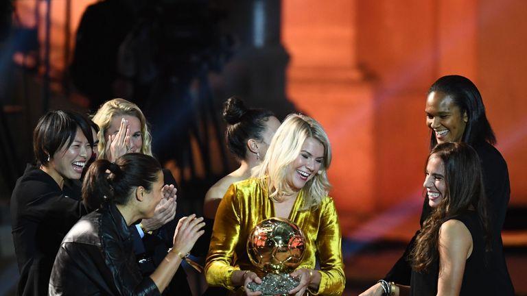Hegerberg won the first ever women's Ballon d'Or award