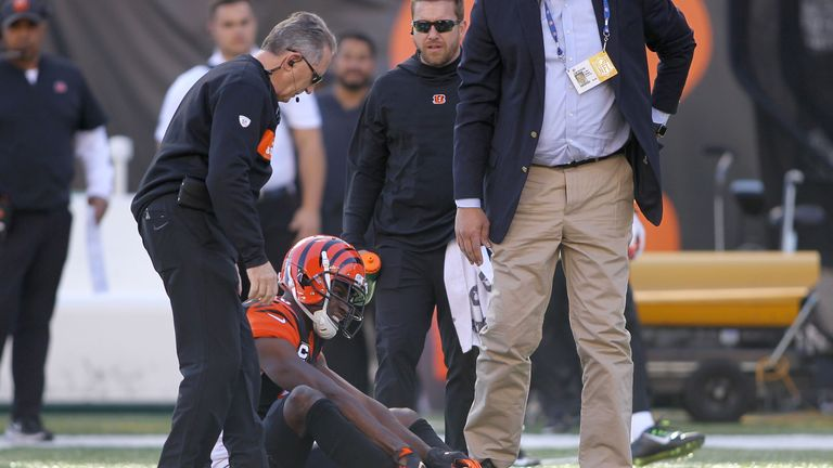 AJ Green was injured in Cincinnati Bengals' game with Denver Broncos on Sunday
