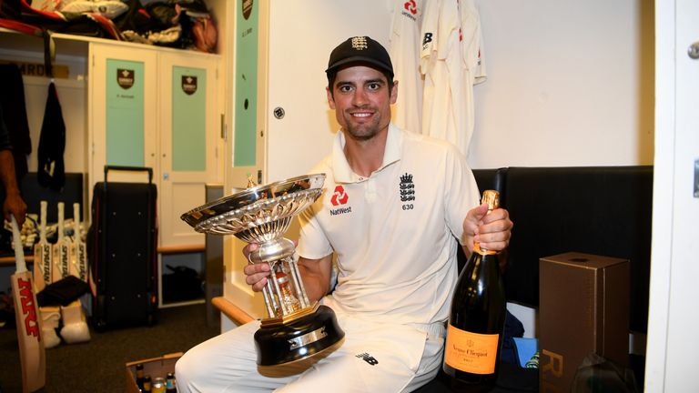 Alastair Cook was given a knighthood in the New Year Honours list