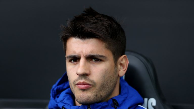 Alvaro Morata was left out of Chelsea's squad against Manchester City