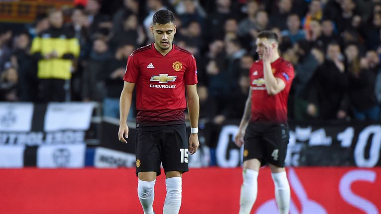Manchester United missed the chance to top their group after losing to Valencia