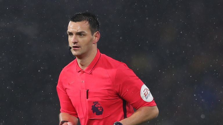Andrew Madley was taking charge of his first Premier League game this season