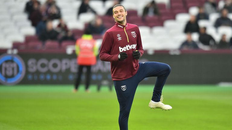 Andy Carroll could also feature for West Ham on Saturday