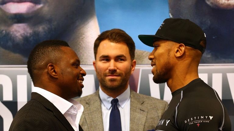 Joshua's rivalry with Dillian Whyte stems from an unpaid fight
