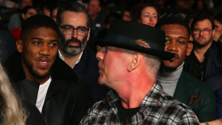 Anthony Joshua was also in the crowd at Madison Square Garden