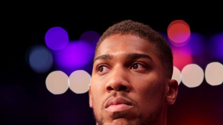 Joshua attended Saul 'Canelo' Alvarez's last fight at Madison Square Garden