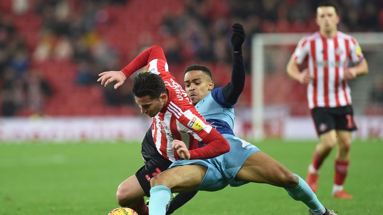 Bryan Oviedo played in Sunderland's second-round victory over Notts County