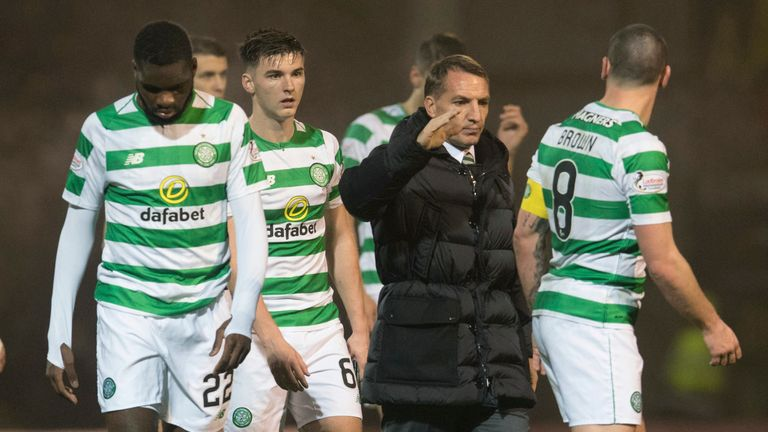 Brendan Rodgers' side were left disappointed against Motherwell