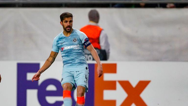 Cesc Fabregas in action against Vidi FC on Thursday night