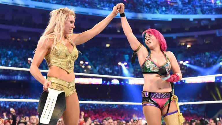 There was a display of mutual respect at WrestleMania after Charlotte Flair ended Asuka's unbeaten streak