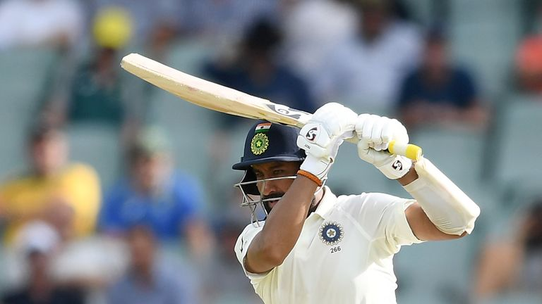 Cheteshwar Pujara reaches 5000 test run, equals Rahul Dravid