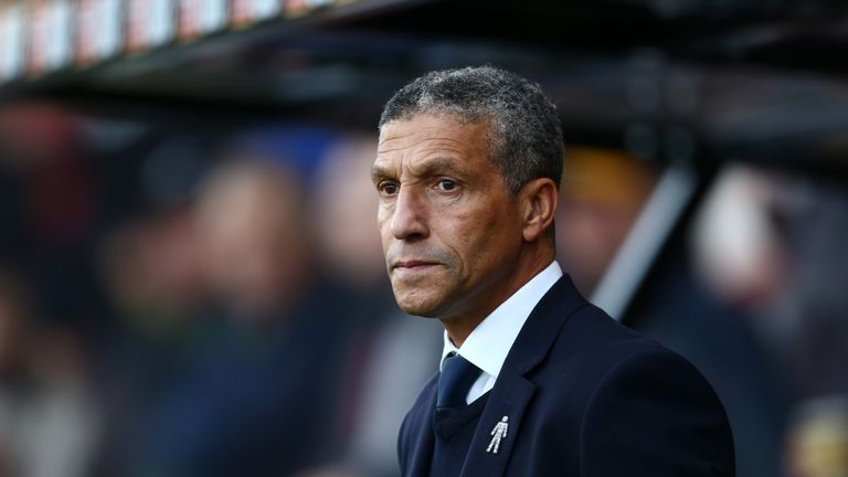 Chris Hughton will be hoping his Brighton side can end their losing run at three matches against Arsenal on Boxing Day