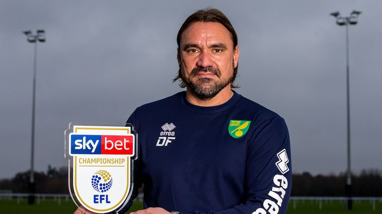 Daniel Farke is the Sky Bet Championship Manager of the Month for November