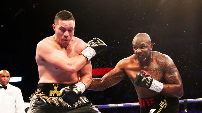 Whyte defeated Parker on points at The O2