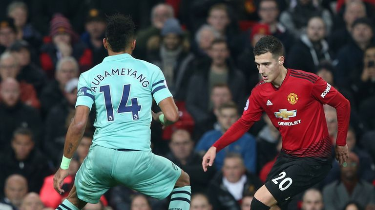 Diogo Dalot made his first Premier League start for Manchester United