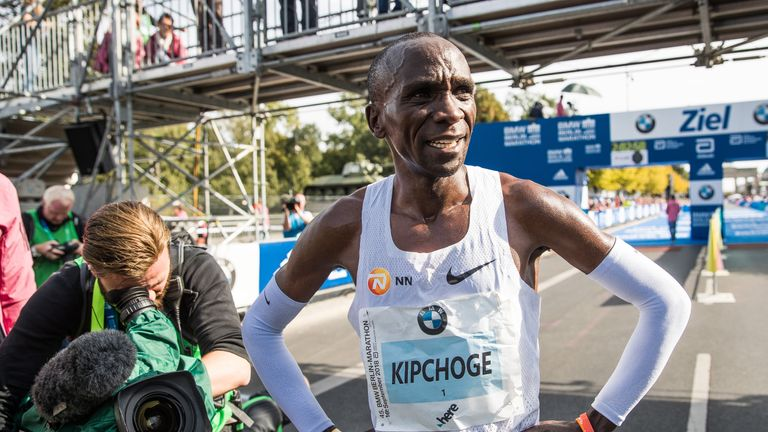Eliud Kipchoge set a new marathon world record in Berlin in September