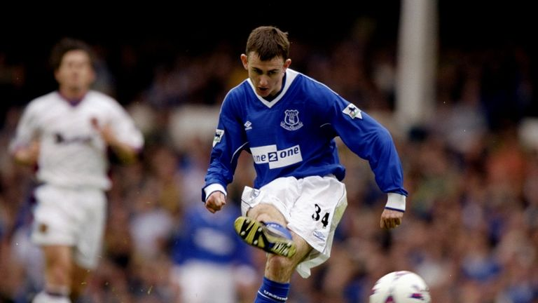 Francis Jeffers was an exciting young striker at Everton