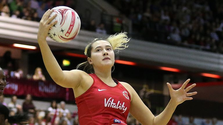 Fisher played her first England internationals on home soil