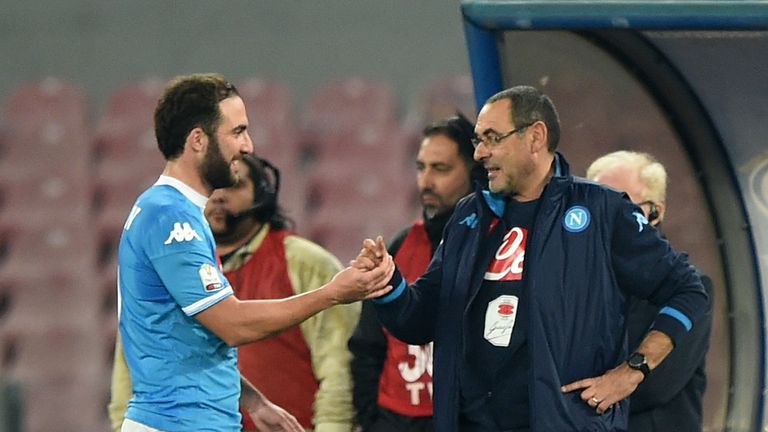 Maurizio Sarri worked with Higuain at Napoli