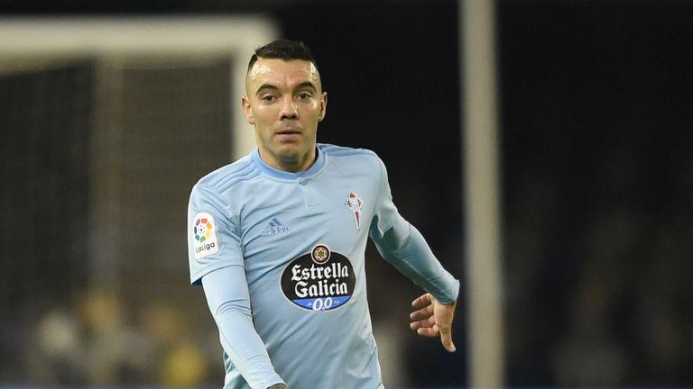 Iago Aspas scored twice for Celta Vigo