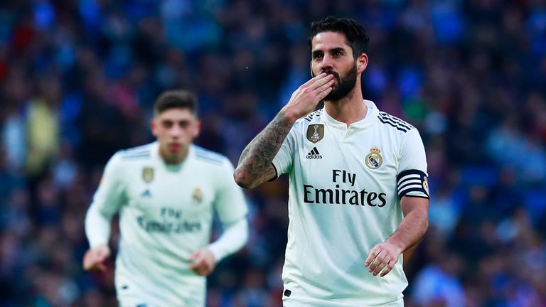 Isco scored twice in Real Madrid's 6-1 win