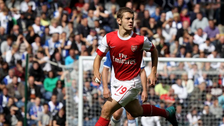 Jack Wilshere made his Arsenal debut at Blackburn