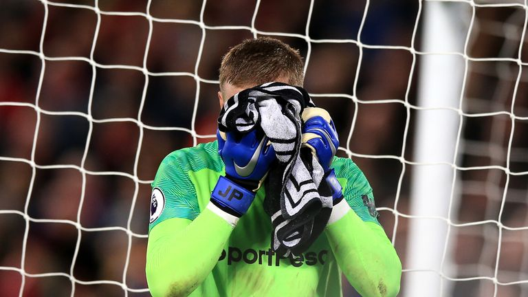 Jordan Pickford made a costly blunder against Liverpool in December and will face Liverpool again live on Sky Sports this Sunday
