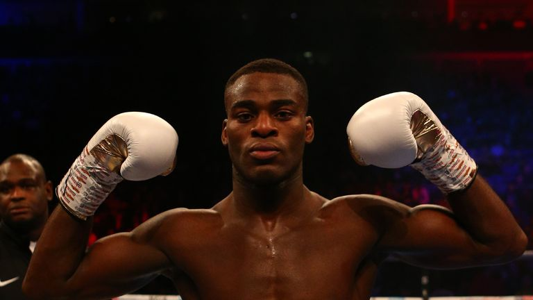 Joshua Buatsi celebrates his swift victory over Renold Quinlan