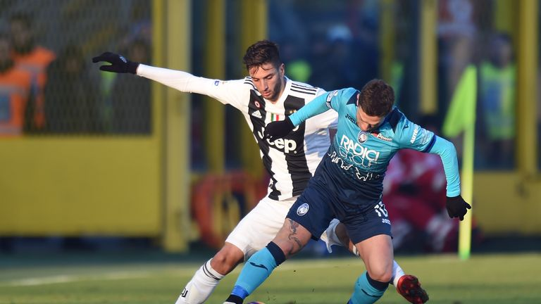 Rodrigo Bentancur was sent off for two bookable offences against Atalanta