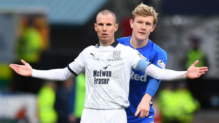 Kenny Miller has scored seven goals for Dundee this season, the club's top scorer in the Scottish Premiership