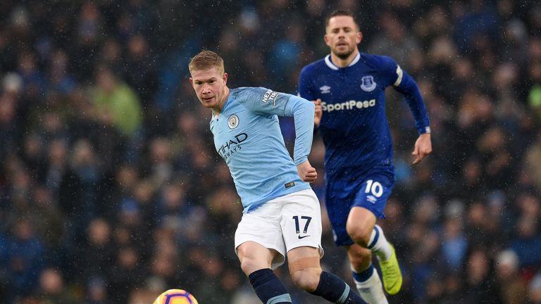 De Bruyne made a comeback for Everton